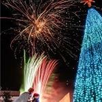 Christmas on the Square (300px), Fireworks, Christmas Tree