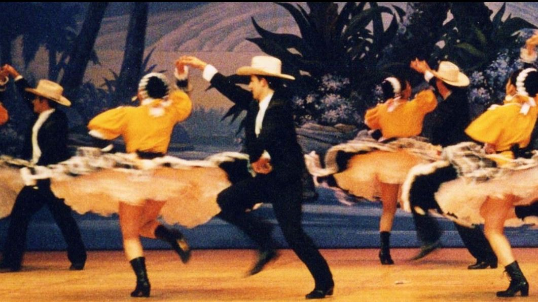 Mexican Folklorico dancing couples