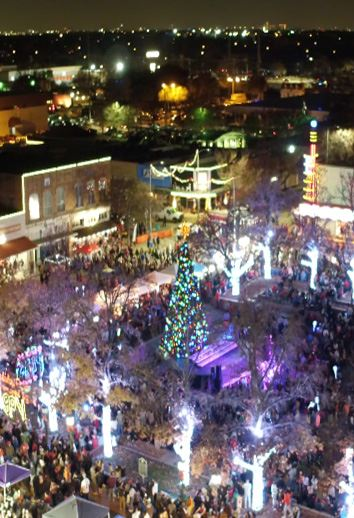 Downtown Garland Holiday Lights